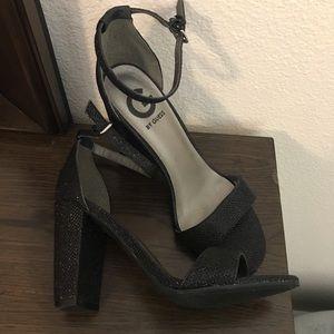 Sparkly Little Black Heels